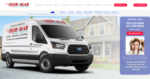 DorMar Heating & Air Conditioning website design project thumbnail
