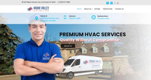 Miami Valley Heating & Air web thumbnail
